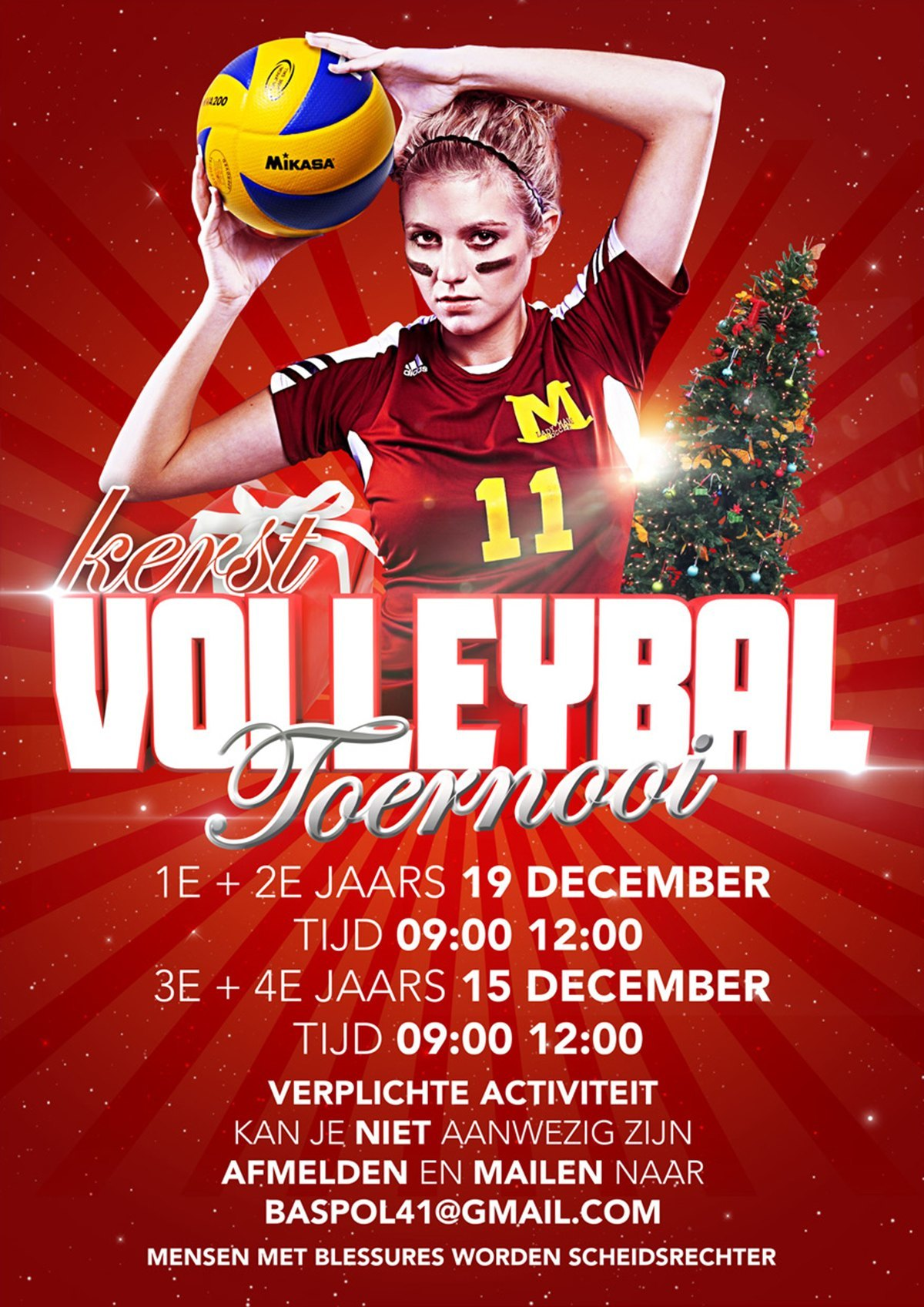 """Kerst-volleybal-poster"""