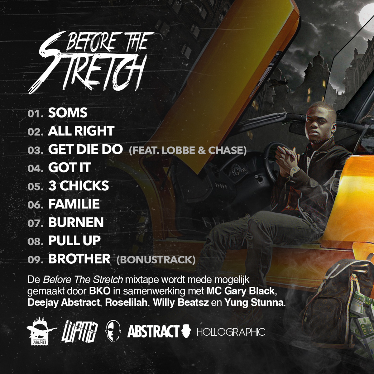 """BKO-Before-the-stretch-artwork-tracklist"""